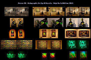3D Stereo views of holographic art by Al Razutis - page