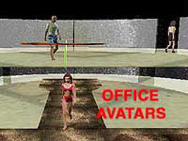 link to three inline avatars in 'Office Model' world